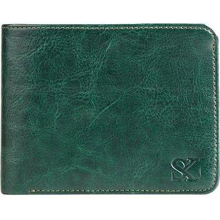 Styler King Men Green Artificial Leather Wallet (4 Card Slots)