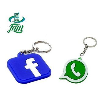 Buy Fam Whatsapp Facebook Rubber Keychains Combo Online Get 75 Off