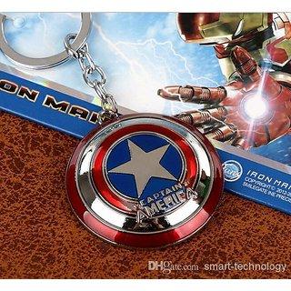 Marvel Super Hero The Avenger Captain America Shield Metal Key chain