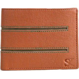 Styler King Men Tan Artificial Leather Wallet (4 Card Slots)