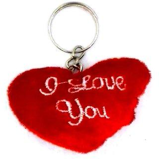 Keychain, One Heart, Feather, I Love You
