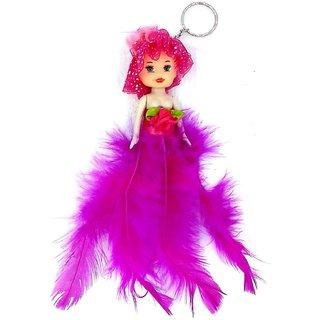 Cute Feather Doll Keychain