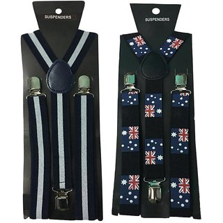 Atyourdoor Y- Back Suspenders for Men(WL Australian Flag Design)