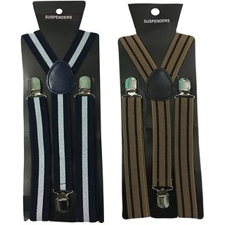 Atyourdoor Y- Back Suspenders for Men(WL Brownline Design)