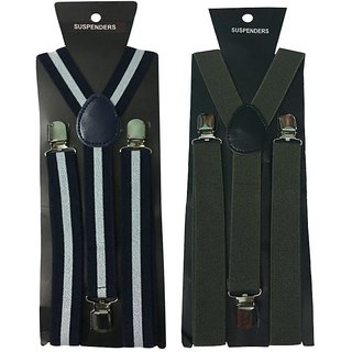 Atyourdoor Y- Back Suspenders for Men(WL Green Color)