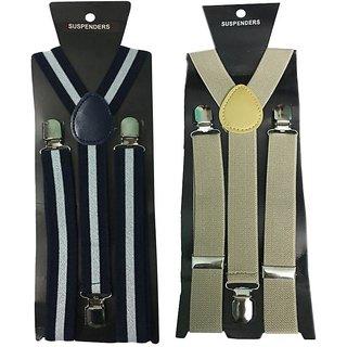 Atyourdoor Y- Back Suspenders for Men(WL Light Brown Color)