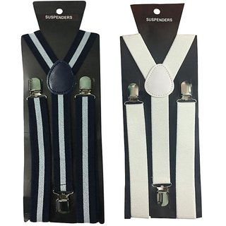 Atyourdoor Y- Back Suspenders for Men(WL White color)