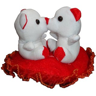 Atorakushon Soft Kissing Couple Teddy Bear On Heart With I Love You Music By Pushing On both teddy For Valentine gift