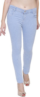 Pavis Ice Blue Woman Skinny Jeans