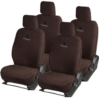 Pegasus Premium Brown Cotton Car Seat Cover For Toyota Innova