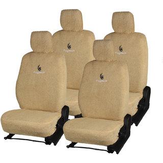 Pegasus Premium Beige Towel Car Seat Cover For Maruti Zen
