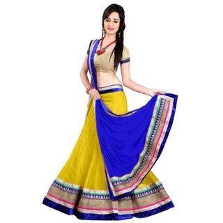 Anu Clothing Yellow Net Partywear Lehenga Choli For Women AA0013
