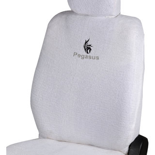 Pegasus Premium White Towel Car Seat Cover For Mahindra Scorpio