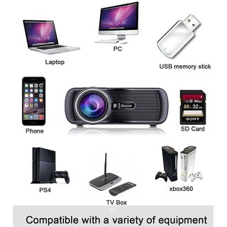 High Quality X7 Projector, Watch Movies and TV channels in BIG Screen