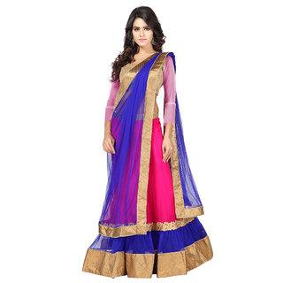 Anu Clothing Pink Net Partywear Lehenga Choli For Women AA0039