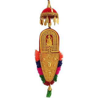 Culturalshoppe Nettipattam Car Hanging with Lord Ganesha (10inch)