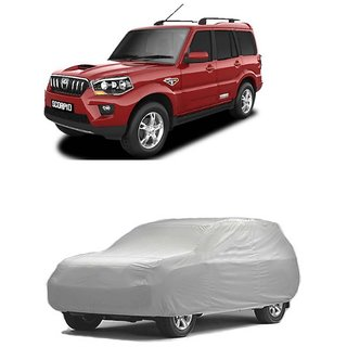 Vsquare Mahindra SCORPIO Car Body Cover Silver