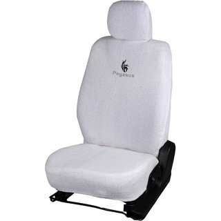 Pegasus Premium White Towel Car Seat Cover For Honda Brio