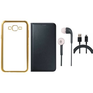 Coolpad Note 3 Lite Back Cover with Free Leather Finish Flip Cover, Earphones and USB Cable