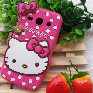 buy popular 25725 a6584 Samsung Galaxy Core 2 / SM-G355H Back Cover - Yes2Good Printed Hello Kitty  Soft Rubber Silicone Pink Back Cover Case For Samsung Galaxy Core 2 / ...