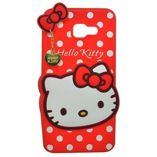 the latest dc588 64d34 Original Yes2Good Cute Hello Kitty Back Case Cover For Samsung Galaxy J7  Prime - Red