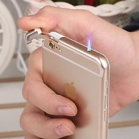 Vanyas Imported Iphone 6s Style Lighter Gold/Silver