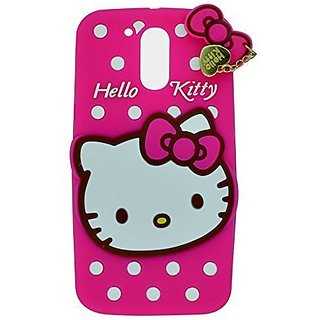 the best attitude f9c8b c2ba1 Motorola Moto G (4th Gen), Moto G4 Plus Back Cover - Yes2Good Printed Hello  Kitty Soft Rubber Silicone Pink Back Cover Case For Motorola Moto G (4th ...