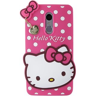 the latest 83f2e 37e09 Redmi 4A Back Cover - Yes2Good Printed Hello Kitty Soft Rubber Silicone  Pink Back Cover Case For Redmi 4A Back Cover- Pink