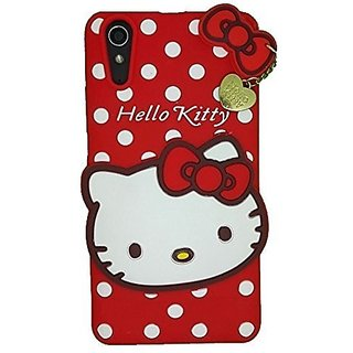 brand new 6538e a498f FOR Vivo Y51 / Vivo Y51L Yes2Good Cute cartoon Hello Kitty Silicone With  Pendant Back Case Cover For Vivo Y51 / Vivo Y51L ( Red )