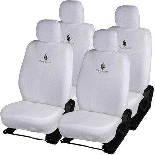 Pegasus Premium White Cotton Car Seat Cover For Tata Nano