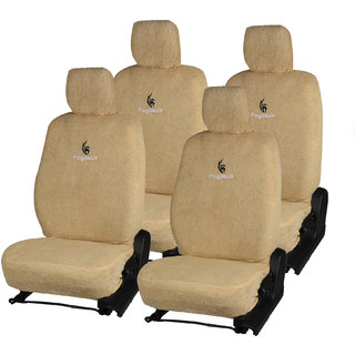 Pegasus Premium Beige Cotton Car Seat Cover For Toyota Innova