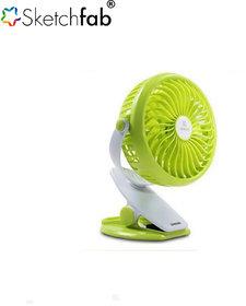 Sketchfab F2 Clip Fan Rechargeable 360 Degree Rotation Usb Desk Fan - Assorted Color