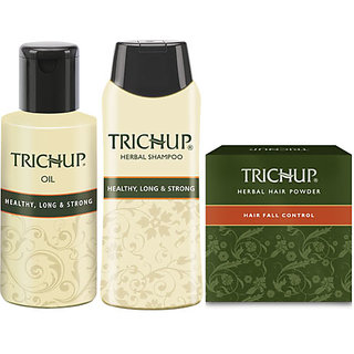 Trichup Healthy Hair Kit (HLS Oil 200 Ml, HLS Shampoo 200 Ml, Hair Powder)