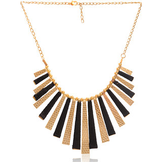 86e6f737345 Minha Fashionable Fashion Metallic Jewellery Necklace Meena Combo of 2