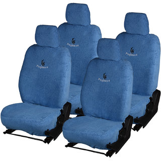 Pegasus Premium Blue Towel Car Seat Cover For Maruti Mobilio