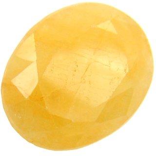 Yellow Sapphire Pukhraj Stone Original Bright Looking Stone 10.5 Ratti