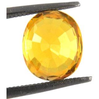 Beautiful Oval Yellow Sapphire Pukhraj Gemstone 8.58 Ratti