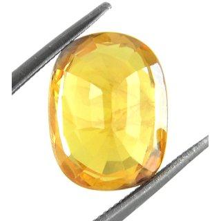 Yellow Sapphire Pukhraj stone Natural Oval Cut 8.36 Ratti