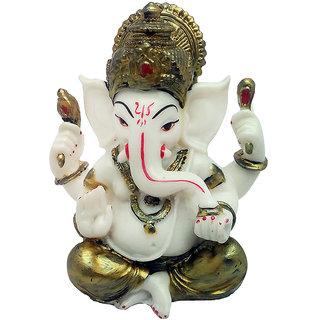ART N HUB Marble Look Hindu God Shri Ganesh Statue lord Ganesha Idol  Bhagwan Ganpati Decorative Spiritual Puja vastu Showpiece - Religious Gift  item