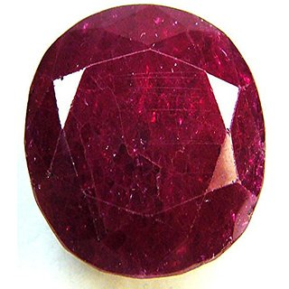 Gemstone  Natural Red Ruby (Manik) Oval Mixed Cut Loose  3.4 Ratti