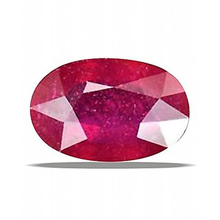 Gemstone  Ruby 100% Natural Unique Red Faceted Oval Shape  3.7 Rattti