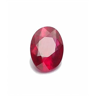 Gemstone  Ruby Manik Gemstone Very Nice Natural Looking Red Color Oval Mixed Cut Loose  6.20 ratti