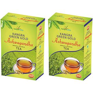 Khadi Ashwagandha Green Gold Tea (Pack of 2)