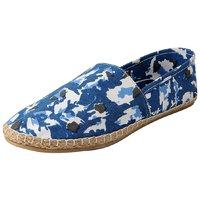 FAUSTO Blue Men's Canvas Espadrilles