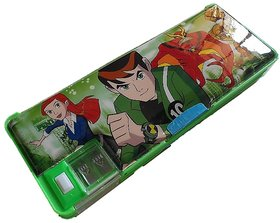 Ben 10 Alien Force BEN 10 Art Plastic Pencil Box  (Set of 1, Green)