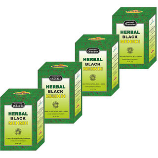 Chandan Herbal Black Mehndi (Pack of 4)