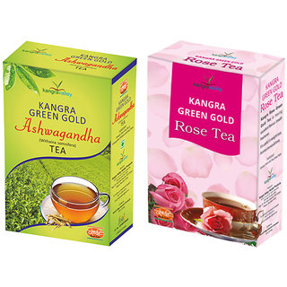 Khadi Ashwagandha Tea - Rose Tea (Pack of 2)