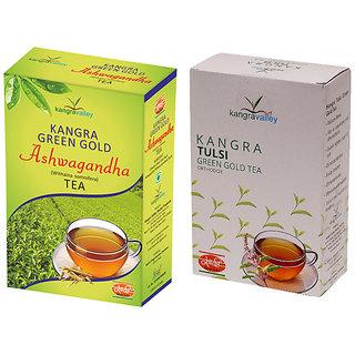 Khadi Ashwagandha Tea - Tulsi Tea (Pack of 2)