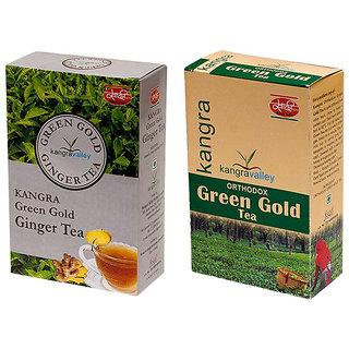 Khadi Ginger Tea - Green Gold Tea (Pack of 2)