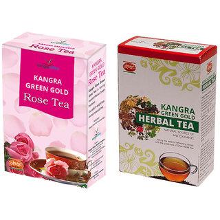 Khadi Rose Tea - Herbal Tea (Pack of 2)